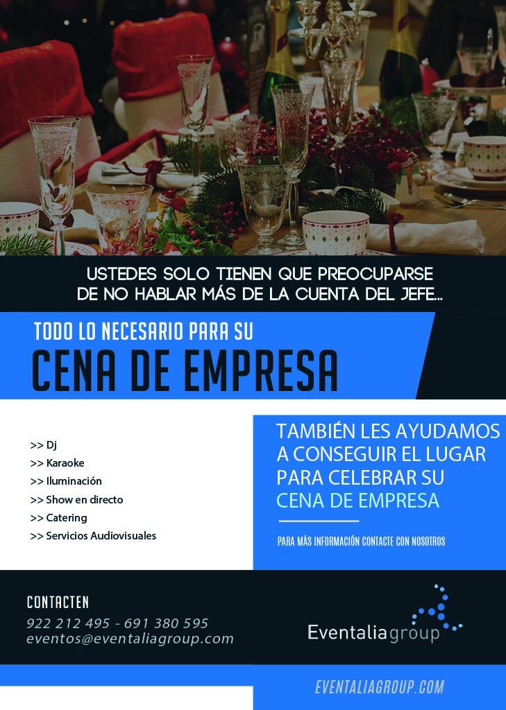 Cena de empresa con Eventalia Group en Tenerife